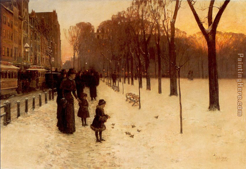 childe hassam Boston Common at Twilight Art Painting